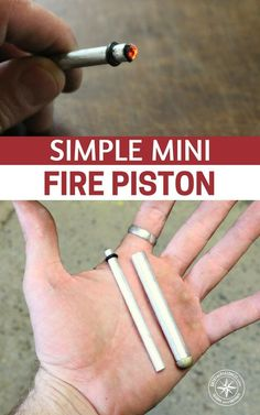 Simple Mini Fire Piston - There was a time when projects like these were limited to they people with manufacturing facilities. This piston can be reproduced by you and put into your own go bag or hiking bag. #diy #hiking #survival #preparedness #prepping #prepper #emergencyprep