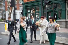 Jenny Packham's Eden Gown and Elegant Ostrich Feathers For A Glamorous London Gastro Pub Wedding