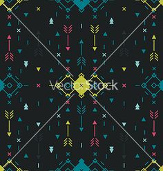 Geometric background tribal seamless pattern vector by Tatishdesign on VectorStock®