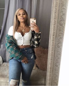 Shared by Chloe. Find images and videos on We Heart It - the app to get lost in what you love. Swag Outfits, Chic Outfits, Fall Outfits, Summer Outfits, Baddie Outfits Casual, Curvy Outfits, Looks Style, My Style, Look Body