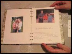 DIY Memorial Book.  Great Idea!