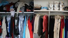 Poshmark on Today! // Get organized this year with 3 easy steps to declutter your closet. Hoda's closet: Before and after Jill's makeover.
