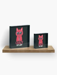 Crazy cat lady Acrylic Block