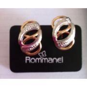 Brinco Rommanel Rhodium E Folhado Ouro R$ 51.9