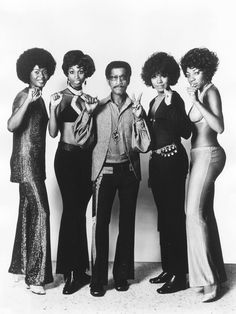 Sammy Davis Jr. and friends, 1970s. via: theyroaredvintage: