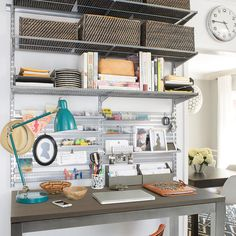 Check Out This Before And After Office/craft Room Using Elfa From The  Container Store! | Elfa Office | Pinterest | Container Store, Room And  Organizations