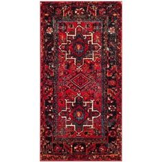 Buy the Safavieh Red / Multi Direct. Shop for the Safavieh Red / Multi Vintage Hamadan X Rectangle Synthetic Power Loomed Southwestern Area Rug and save. Persian Motifs, Persian Rug, Persian Carpet, Design Blog, E Design, Southwestern Throws, Classic Rugs, Polypropylene Rugs, Traditional Area Rugs