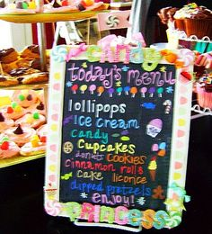fun menu - Candyland Birthday Party « The Homestead