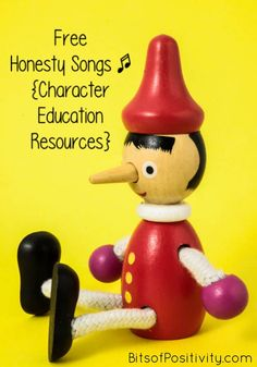 Lots of YouTube videos with songs about honesty (trustworthiness); perfect for a virtues unit study on honesty at home or school for a variety of ages - Bits of Positivity #charactereducation #character #honesty #homeschool #preschool School Age Activities, Classroom Activities, Activities For Kids, Classroom Organization, Classroom Ideas, First Grade Songs, First Grade Lessons, Kindergarten Songs, Preschool Songs