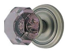 Violet crystal door knob from rusticahardware.com Old Door Knobs, Cupboard Knobs, Door Handles, Crystal Door Knobs, Knobs And Knockers, Home Hardware, Old Town, Doors, Crystals