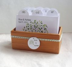 Guest book... Can easily ask guests to address envelopes for bridal shower thank-you cards