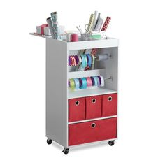 Give Yourself A Mobile Gift Wring Headquarters With This Wrap Cart Mixture Of Open Storage And Easy To Remove Drawers Can Hold