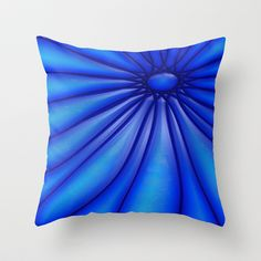 Flower Blues Throw Pillow by Alice Gosling - $20.00