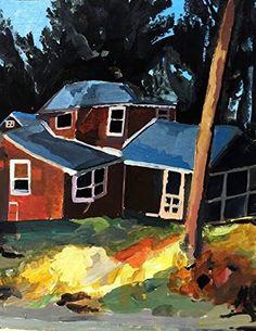 "Gold House by Sam Buck Rosen Original Painting 11x9"" Paula Estey Gallery http://www.amazon.com/dp/B018BAQW66/ref=cm_sw_r_pi_dp_WY-Jwb0JXY26S"