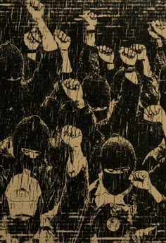 "Image from ""La Autonomia es la Vida, la Sumisión es la Muerte: A Celebration of 20 Years of the Zapatistas and the Autonomous Communities of Mexico"" @ Interference Archive, Brooklyn Arte Latina, Arte Dope, Activist Art, Arte Punk, Protest Art, Estilo Rock, Political Art, Feminist Art, Dark Photography"