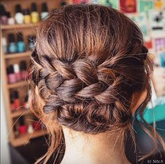 hairstyle, updo, wedding hairstyle, braid, brown hair, 365c, 365coiffures, coiffure, mariage