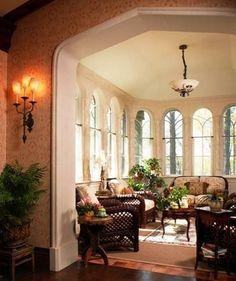 Andie MacDowell's tudor style interior