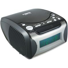 Naxa Digital Alarm Clock with Digital Tuning AM/FM Radio & CD Player