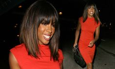 Kelly Rowland wows in tight red dress for dinner at Hollywood hotspot