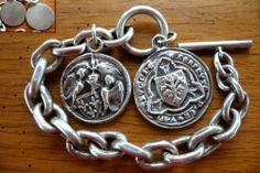Ancien Bijou Bracelet Argenté Médaille Sceau Blason Région ILE DE France   eBay
