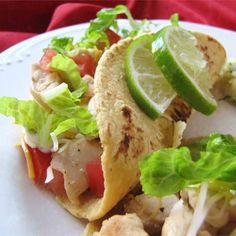 """Lime Chicken Soft Tacos 