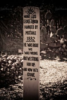 What visit to Tombstone would be complete without a visit to Boot Hill Cemetery. Once again due to the famous gunfight, this Boot Hill al. College Road Trip, Cowboy Humor, Funeral Caskets, Famous Tombstones, Halloween Poems, Old West Photos, Tombstone Arizona, The Last Laugh, Famous Last Words