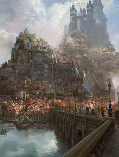 The Art Of Animation Fantasy city Fantasy landscape Tangled concept art