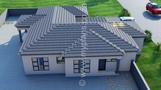 3 Bedroom House Plan MLB 008.1S - My Building Plans South Africa Split Level House Plans, Square House Plans, Free House Plans, Tuscan House Plans, Metal House Plans, My Building, Building Plans, Architect Fees, House Plans South Africa