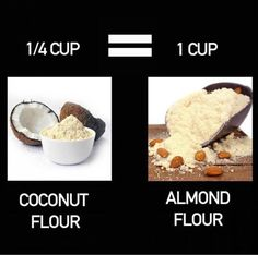 Almond and coconut conversion Low Carb Desserts, Low Carb Recipes, Cooking Recipes, Paleo Recipes, Chili Recipes, Coconut Flour Recipes Keto, Keto Flour, Gula, Keto Bread