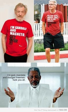 I think it's an unwritten rule that Morgan Freeman ALWAYS wins at EVERYTHING.