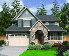 Starter Home Plan with English Country Charm - 6990AM | Traditional, Narrow Lot, 2nd Floor Master Suite, CAD Available, Den-Office-Library-Study, PDF | Architectural Designs