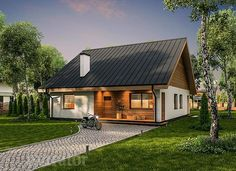 projekt domu C333b Miarodajny - wariant II - Murator projekty Home Fashion, House Design, House Styles, Home Decor, Architecture, Houses, Projects, Homemade Home Decor, Architecture Illustrations