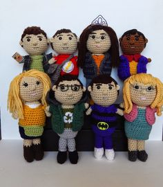 Check out this amazing Big Bang Theory amigurumi group that Amidorable made!  Make your favorite character in Vanna's Choice or Wool-Ease.