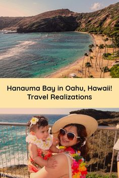 Hanauma Bay in Oahu, Hawaii greets you with a dash of bright green and blue and sends gusty winds to give you company. #hawaiivacation #hawaiitravel #hanaumabay #travelhawaii #travelinspiration