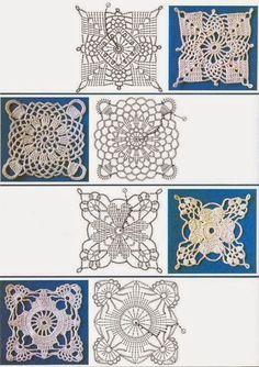 Ivelise Feito à Mão: Squares Em Crochê