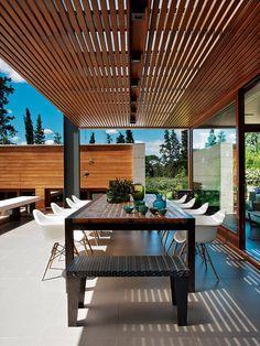 60 attached pergola design and features for your dream home 9 Attic Renovation, Attic Remodel, Attic Design, Interior Design, Porch Interior, Interior Railings, Outdoor Pergola, Cheap Pergola, Courtyards