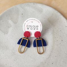 Mabel Earrings - Speckled Red