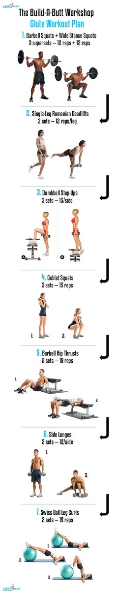 Want a perky, round, firm BUTT? Do the Build-A-Butt Workshop Glute Workout Plan.
