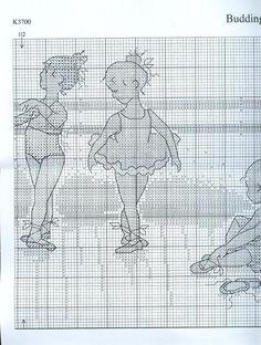 CURIOSA CORUJA: Gráfico Ponto Cruz - Bailarinas