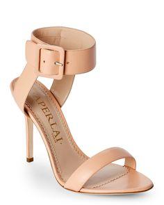 Aperlai Nude Behati Open Toe Leather High Heel Sandals