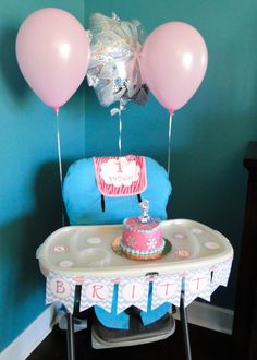 1st birthday party for a girl snowflake theme smash cake