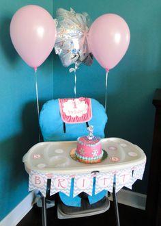 1st birthday party for a girl snowflake theme smash cake