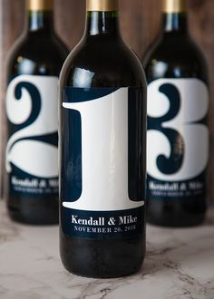 Creative Table Numbers for your wedding tables that also work as a great centerpiece and even a favor for your guests.