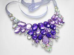 Stunning Purple and Clear AB Rhinestone by SparkleBeastDesign