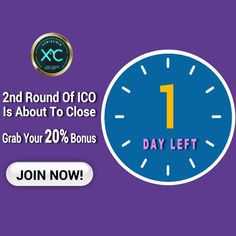 Hurry Up! round of ICO is about to close. So grab the opportunity and get bonus. Only 1 Day 11 Hours left for the second round of ICO! Invest Now!