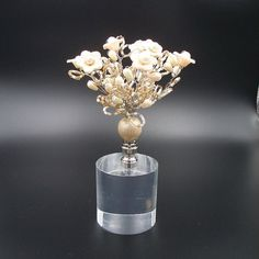 Custom Lamp Finial with a nExquisite Peach by TheFineFinial