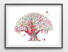 Olive Tree watercolor Print Olive tree poster olive by MimiPrints