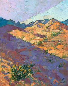 Coral Pink Sand Dues landscape painting by contemporary impressionist Erin Hanson