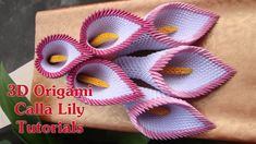 HOW TO MAKE 3D ORIGAMI CALLA LILY | DIY PAPER CALLA LILY FLOWER
