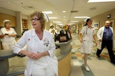 Nurses wore white uniforms, white caps, white stockings and shoes on duty: all the time.